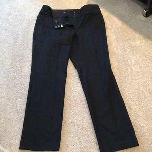 Loft Julie straight fit dress pants black